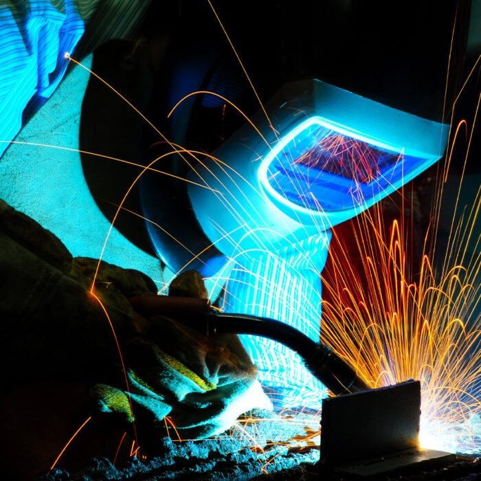 Low fume high productivity MIG welding